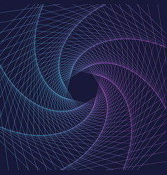 abstract swirl hexagon vortex structure vector image