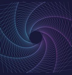 Abstract swirl hexagon vortex structure vector