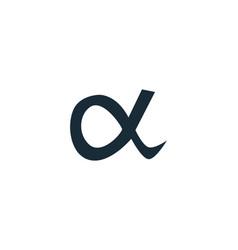 Alpha icon logo template design vector