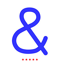 ampersand icon flat style vector image