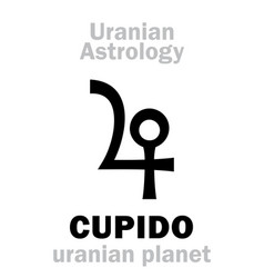 Astrology cupido uranian planet vector