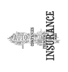 auto insurance how to keep the premium down text vector image