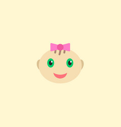 baby girl icon flat element vector image