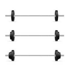barbells set isolated on white background vector image