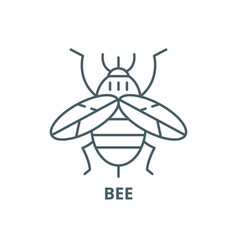 bee line icon bee outline sign concept vector image