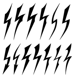 black symbols of electrical discharge vector image
