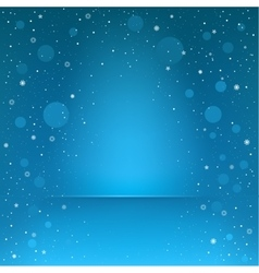 blue snow podium vector image