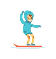 Boy Snowboarding Traditional Male Kid Role vector