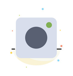 camera instagram photo social abstract flat color vector image
