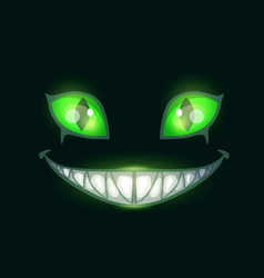 Cartoon scary monster face vector