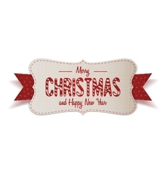 Christmas realistic paper Label Template vector