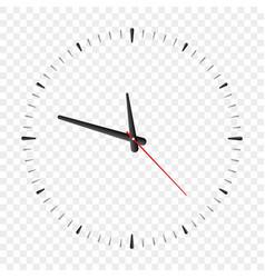 clock face cartoon simple watch realistic vector image
