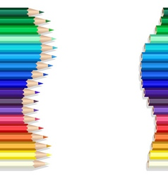 color pencils wave vector image