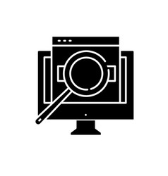 computer search black icon sign on vector image