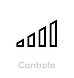 control flat icon editable stroke vector image