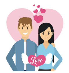 Couple love cartoons vector