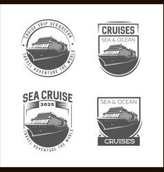 cruise logo design template vector image