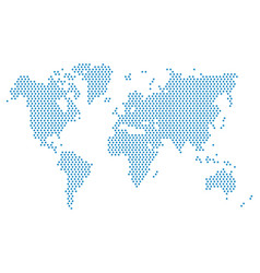 dotted world map world map blue vector image
