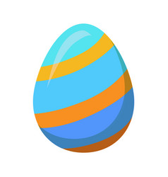 easter egg with golden stripes or lines vector image