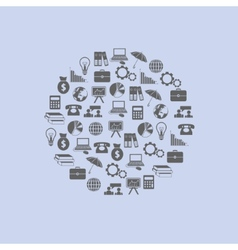 Economy icons in circle vector