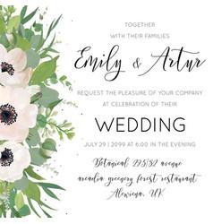Elegant floral wedding invite card design vector