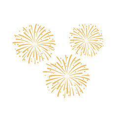 Firework design isolated on vector
