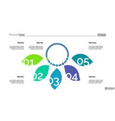 Five petal diagram slide template vector