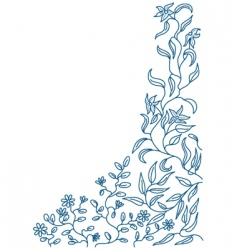 floral doodle vector image