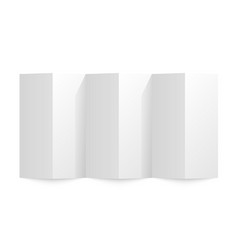 folded paper on a white background vector image