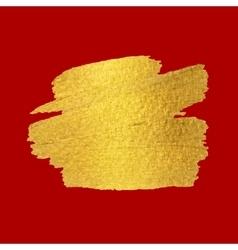 Gold Texture Brush stroke design element vector image