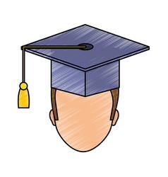 graduation man design vector image