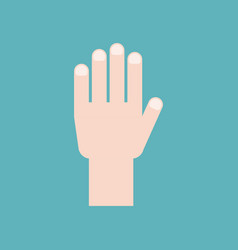 hand icon flat design vector image