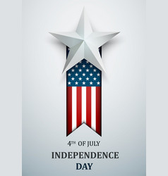 happy 4th july usa independence day fourth of vector image