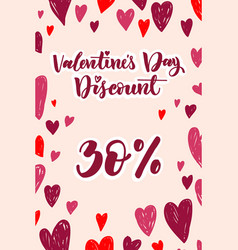 happy valentine s day design for holiday greeting vector image