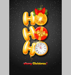 ho merry christmas concept vector image