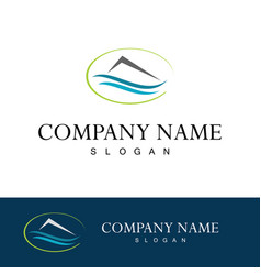 home water company logo vector image