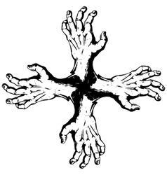 Kross of hands vector