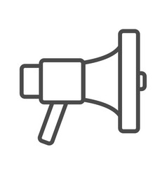 Line loudspeaker icon line sign pixel vector