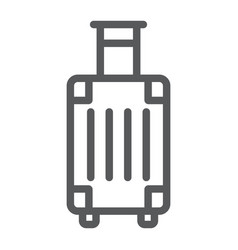 luggage line icon travel and tourism travel bag vector image