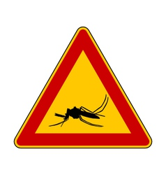 Midge warning sign vector image
