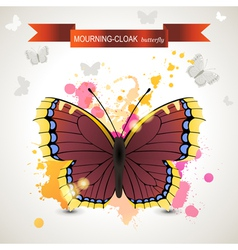 mourning cloak butterfly vector image