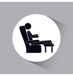 Person resting design vector