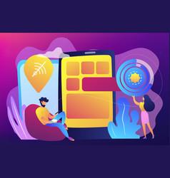 Progressive web app concept vector