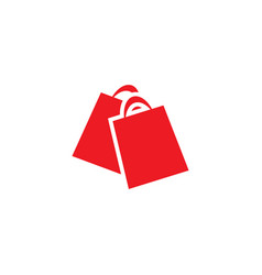 red shopping bag retail logo design template vector image