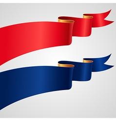 Ribbon red flag vector