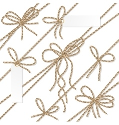 Rope bows ribbons and labels vector