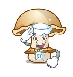 sailor portobello mushroom character cartoon vector image