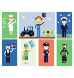 Set men and women professional characters vector