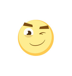 set of emoticons of emoji smile icons vector image