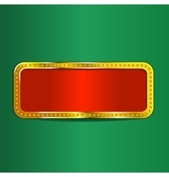 Shining retro frame banner vector image